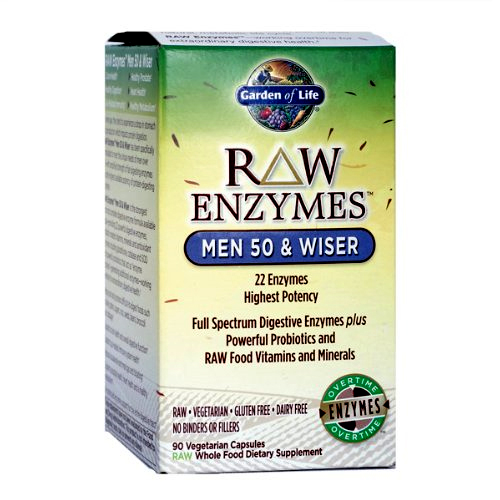 Garden of Life Raw Enzymes - Men 50 & Wiser - 90 vcaps