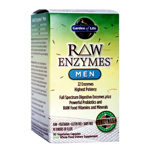 Garden of Life Raw Enzymes - Men - 90 vcaps