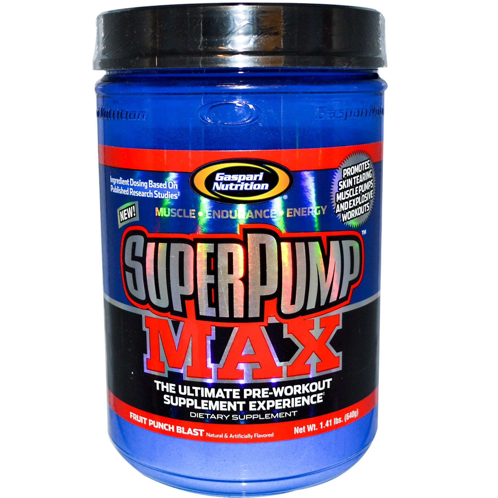 Gaspari Nutrition SuperPump Max Fruit Punch Blast - 1.41 lbs