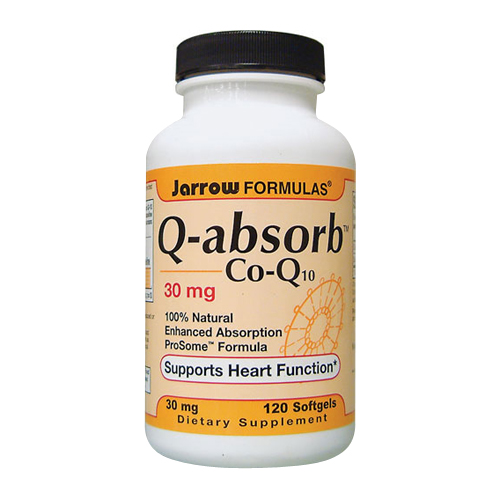 Jarrow Q-absorb Co-Q10 - 30 mg 120 softgels