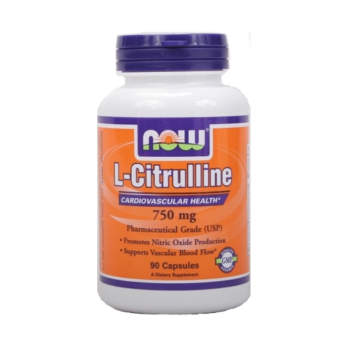 Now L-Citrulline - Nitric Oxide Production - 750 mg 90 capsules