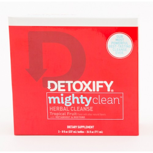 Detoxify Mighty Clean - Herbal Cleanse Tropical Fruit 3 bttls