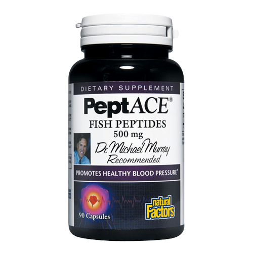 Natural Factors PeptACE Fish Peptides (500 mg.) 90 caps