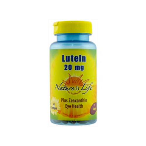 Nature's Life Lutein (20 mg.) 60 sgels