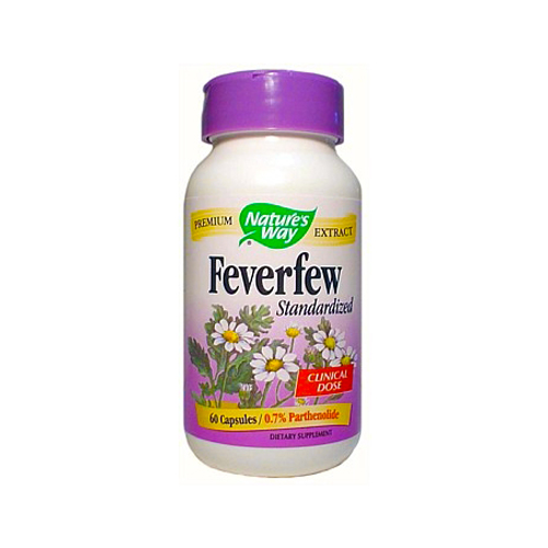Nature's Way® Feverfew – Standardized Extract 60 caps