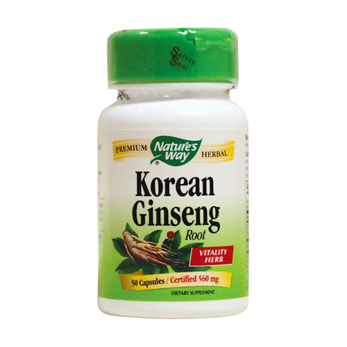 Nature's Way Korean Ginseng Root - 50 caps