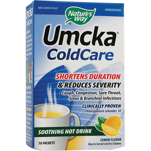 Umcka ColdCare Lemon Hot Drink 10 pckts - astronutrition.com