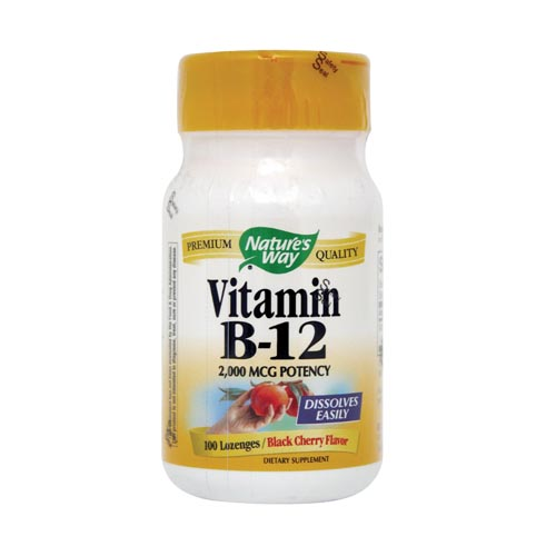 Nature's Way Vitamin B-12  - 2000 mcg 100 lozenges