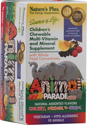 Animal Parade - Children's Chewable Multi-Vitamin and Mineral Supplement Assorted Flavors 90 tabs