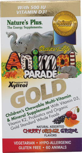 Animal Parade Gold - Children's Chewable Multi-Vitamin and Mineral Supplement Assorted Flavors 60 tabs