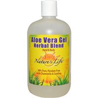 Nature's Life Aloe Vera Gel Herbal Blend - Hand & Body 16 oz
