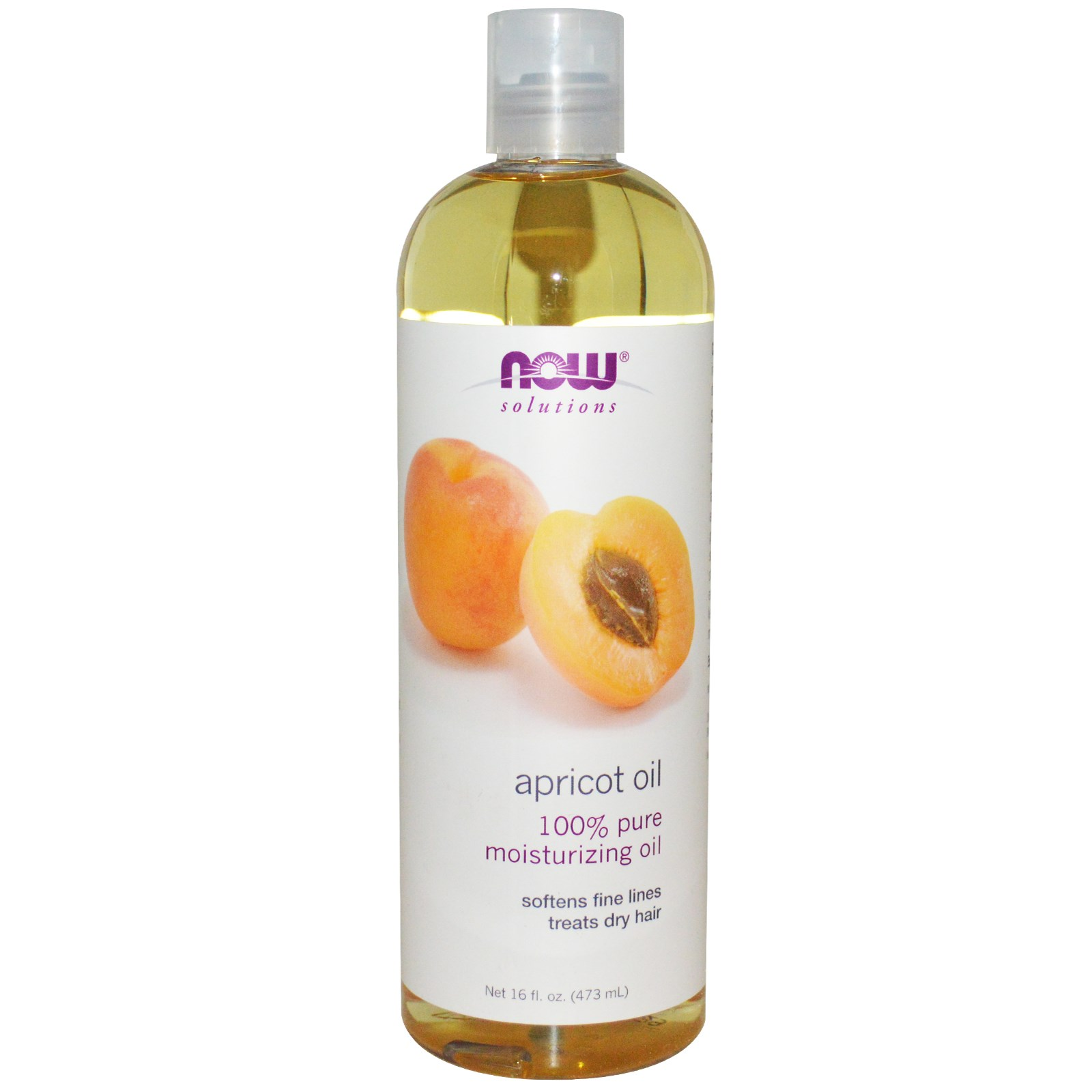 Now Apricot Oil - 100% Pure 16 fl.oz