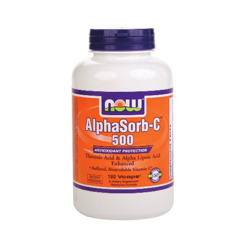 Now AlphaSorb-C 500 - Buffered, Bioavailable - 500 mg 180 Vcaps