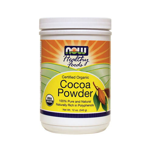 Now Cocoa Powder Certified Organic - 12oz