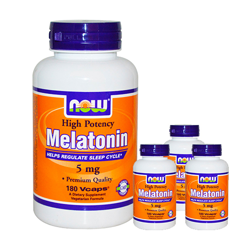 Now Melatonin (5mg) 180 vcaps - BUY 3 GET 1 FREE!