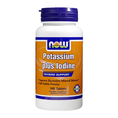 Now Now Potassium plus Iodine 180 tabs