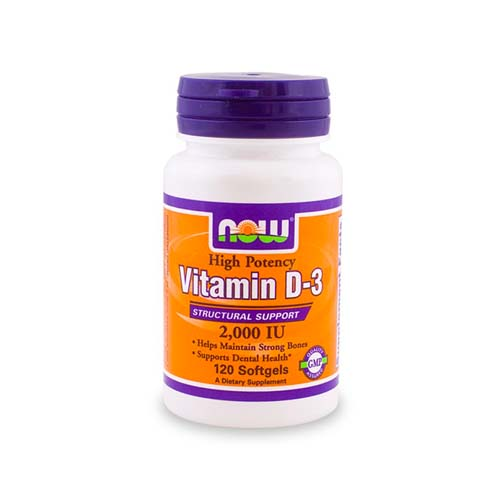 Now Vitamin D-3 - 2000 IU 120 softgels