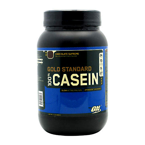 Optimum Nutrition 100% Gold Standard Casein Protein Chocolate Supreme - 2 lbs