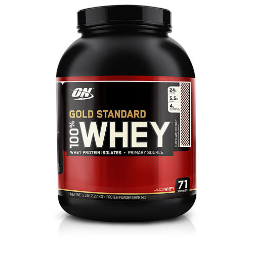 100% Whey Protein - Gold Standard Chocolate Coconut 5 lbs - astronutrition.com