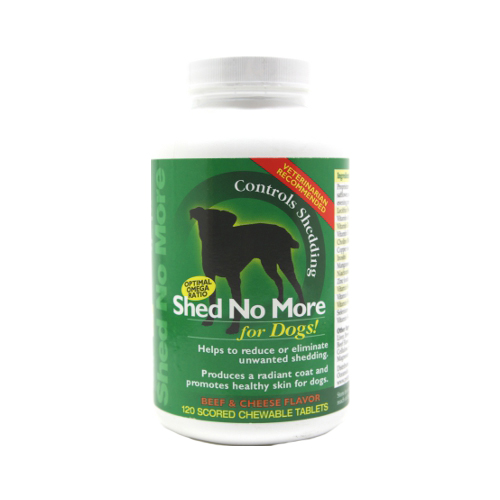 PetLabs360 Shed No More for Dogs Beef & Cheese Flavor - 120 tabs