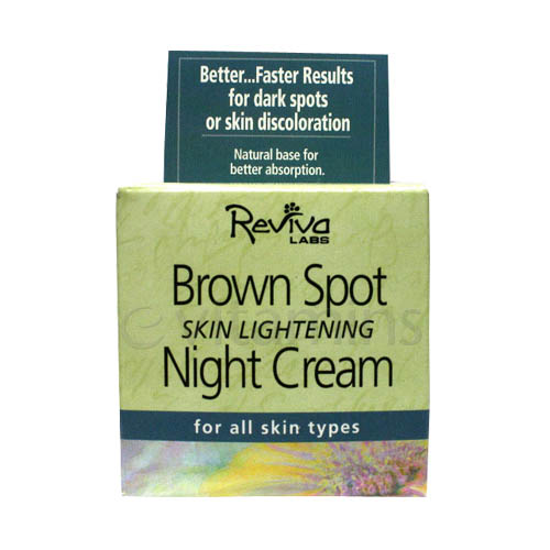 Reviva Labs Brown Spot Skin Lightening Night Cream for All Skin Types - 1.5 oz