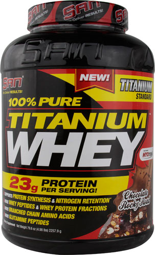 100% Pure Titanium Whey Chocolate Rocky Road 4.98 lbs
