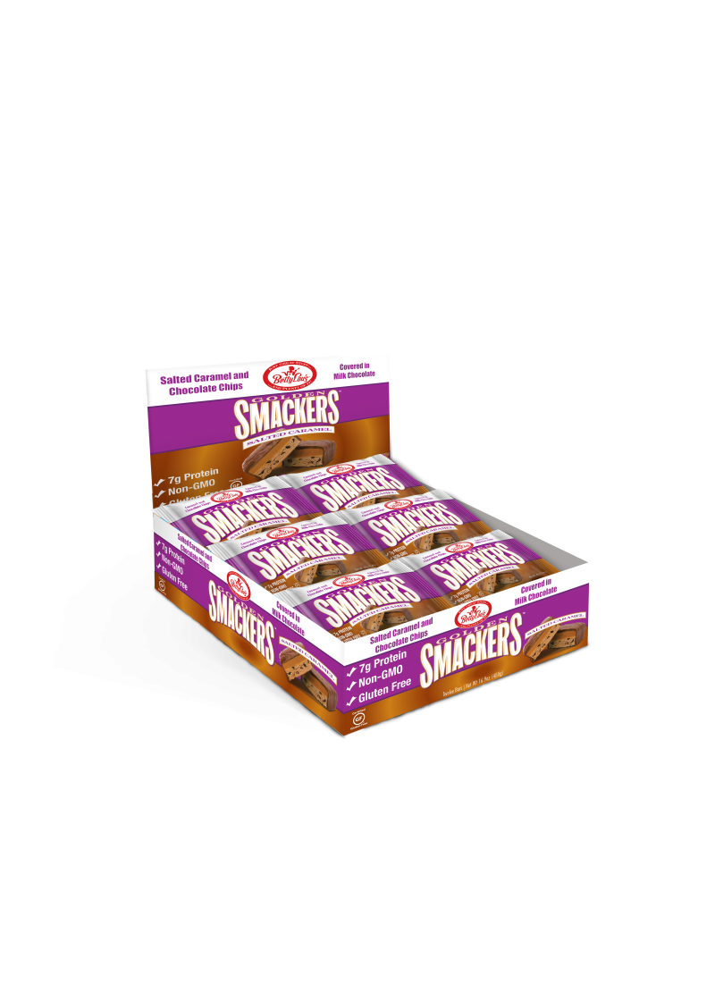 Betty Lou's Gluten Free Smackers Salted Caramel 12 bars