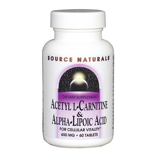 Source Naturals Acetyl L-Carnitine & Alpha-Lipoic Acid - 650 mg 60 tab