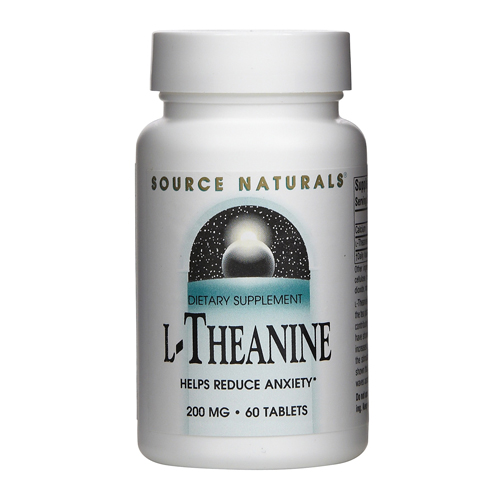Source Naturals L-Theanine - 200 mg 60 tabs