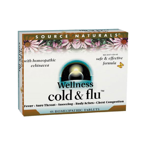 Source Naturals Wellness Cold and Flu - 48 tabs