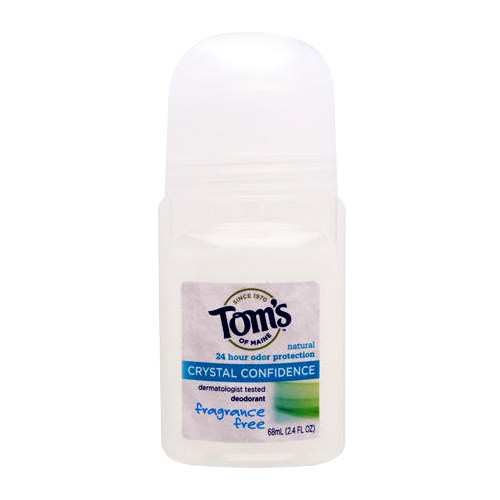 Tom's of Maine Crystal Confidence Deodorant Fragrance-Free - 2.4 fl.oz
