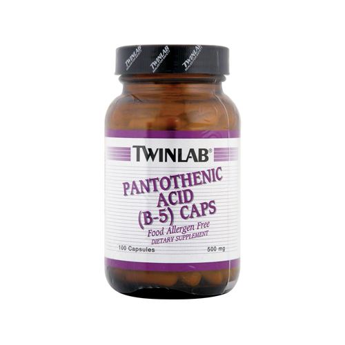 Twinlab Pantothenic Acid - Vitamin B-5 (500mg) - 100 caps