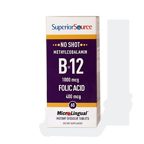 MicroLingual No Shot B12 + B6 & Folic Acid - 60 tabs